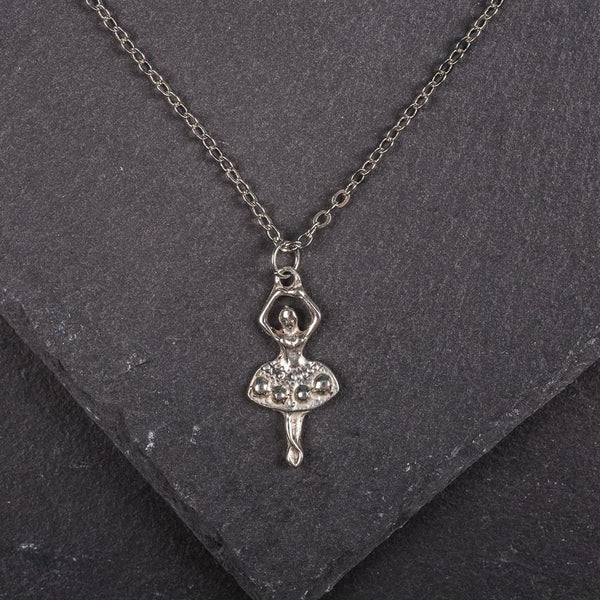 Ballerina Pewter Necklace