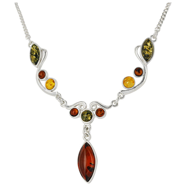 Baroque Medley Amber Necklace