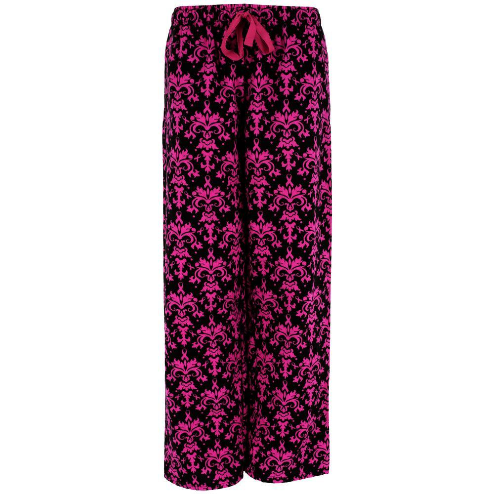 Baroque Pink Ribbon Flannel Lounge Pants