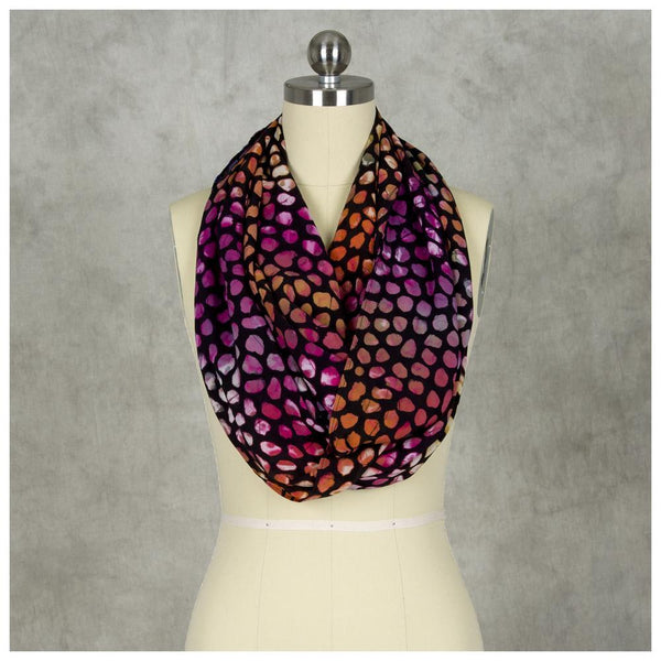 Batik Color Drops Infinity Scarf