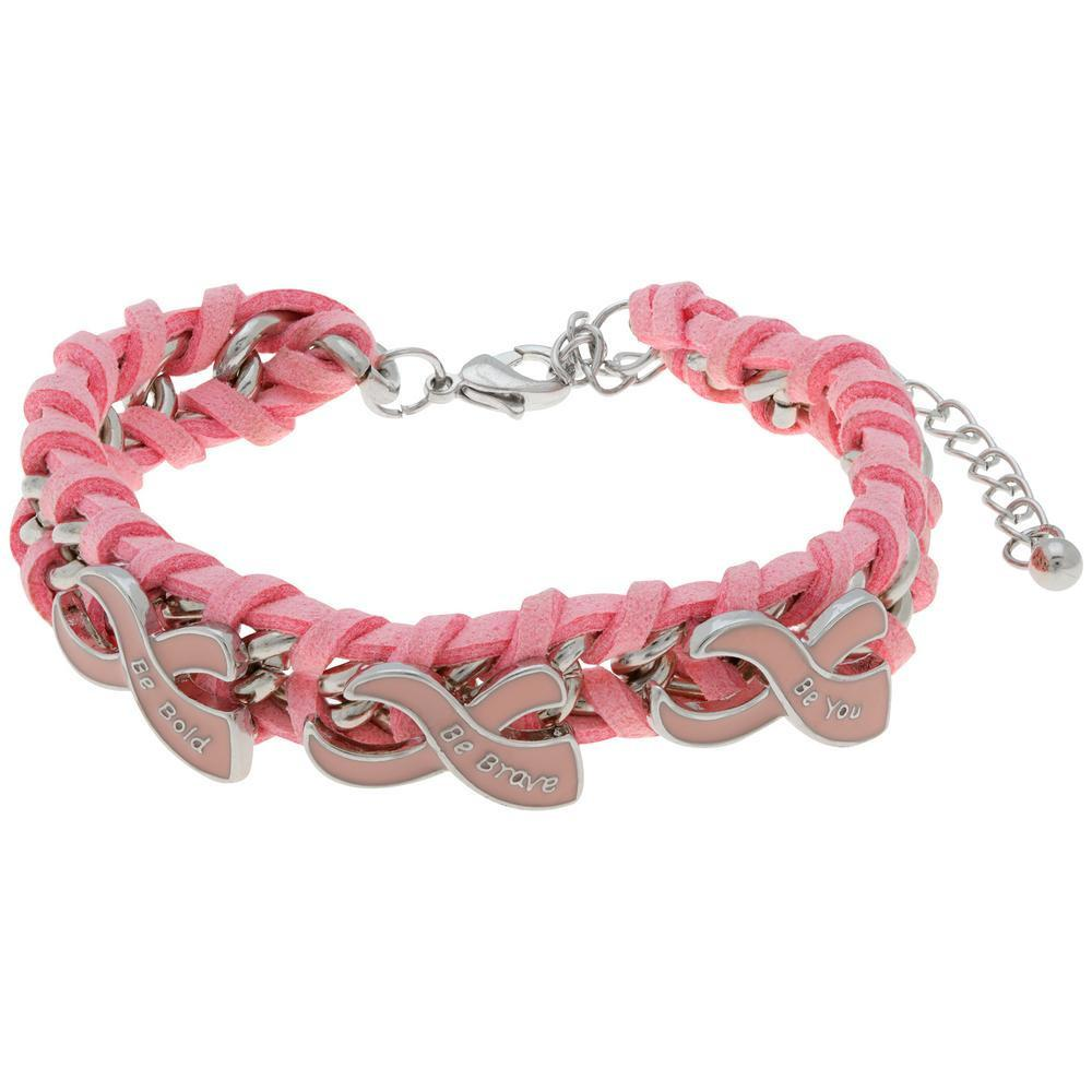 Be Bold Pink Ribbon Bracelet