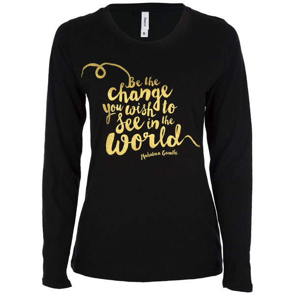 Be The Change Long Sleeve Tee