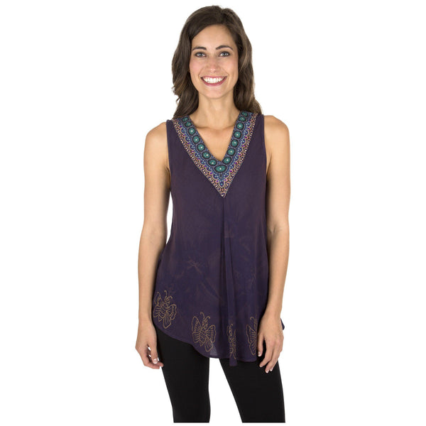 Beaded Beauty Sleeveless Tunic