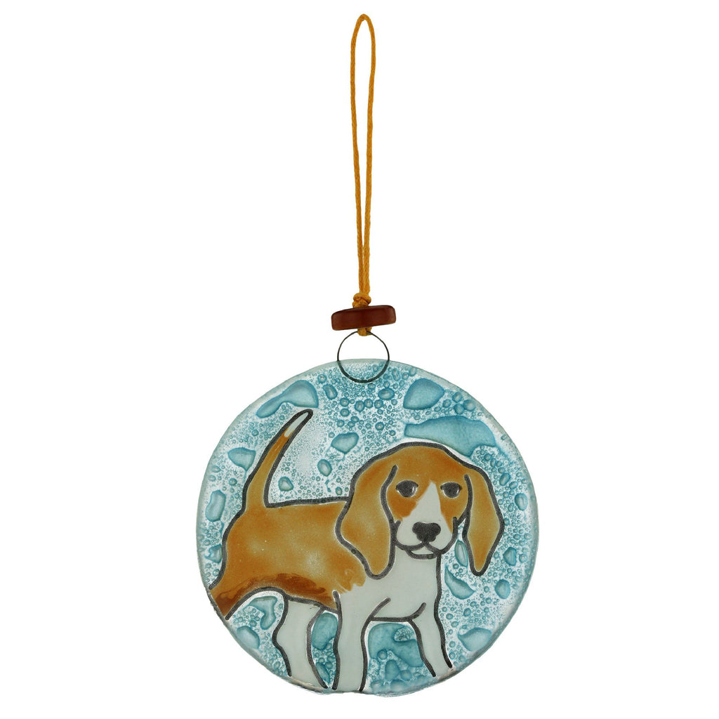 Beagle Recycled Glass Ornament