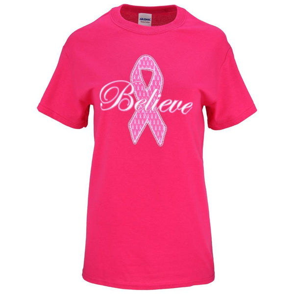 Believe Pink Ribbon T-Shirt