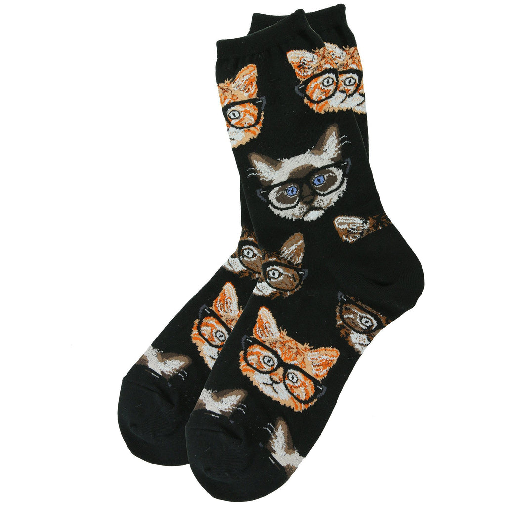 Bespectacled Cat Socks