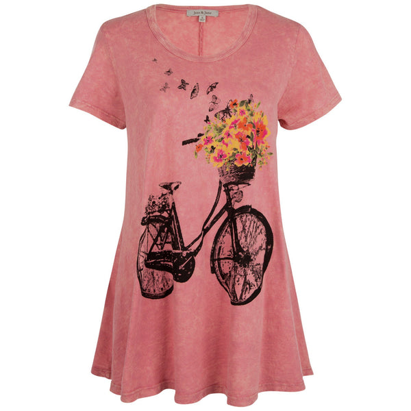 Bicycle Bouquet Mineral Washed Tunic