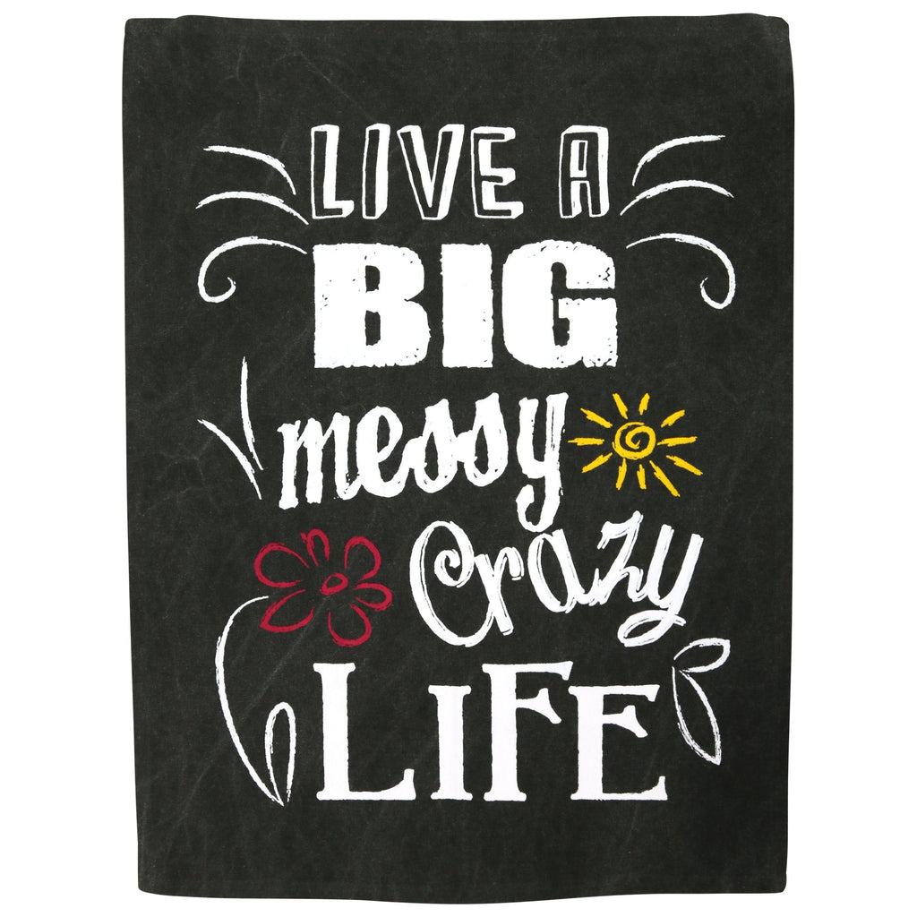 Big Crazy Life Dish Towel