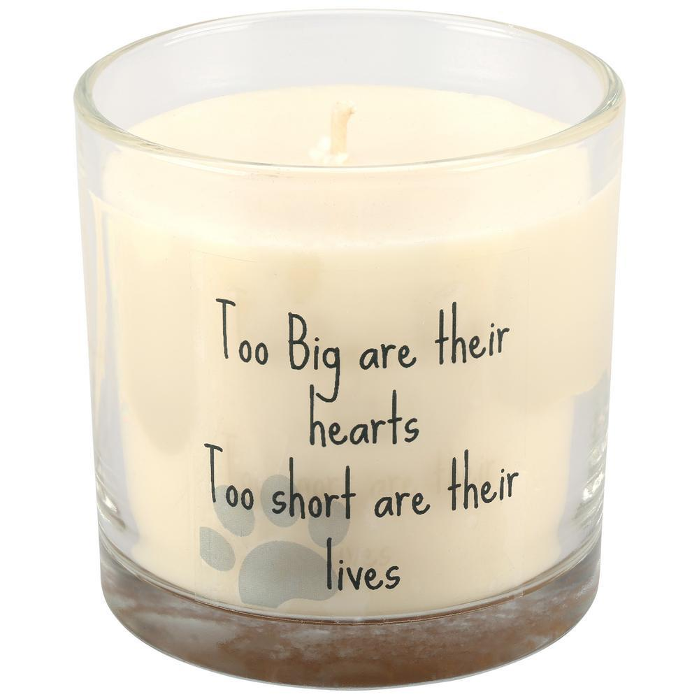 Big Hearts Pet Memorial Candle