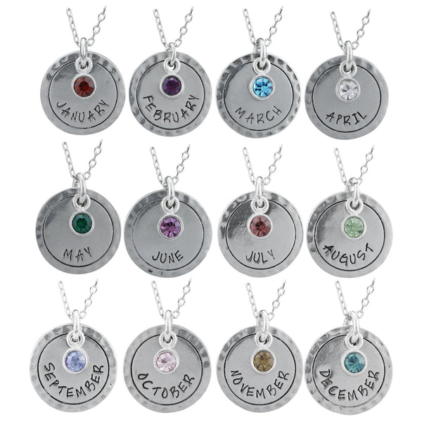 Birthstone & Month Necklace