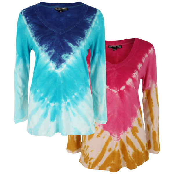 Blissful Tie Dye Long Sleeve Tee