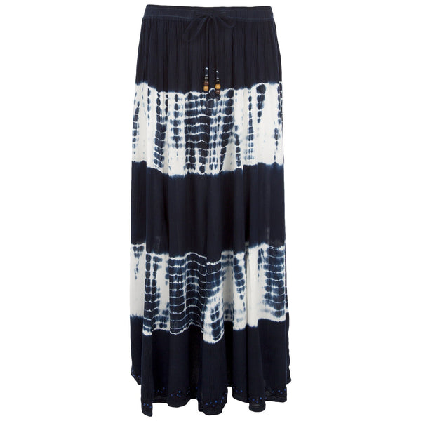 Blue Waves Maxi Skirt