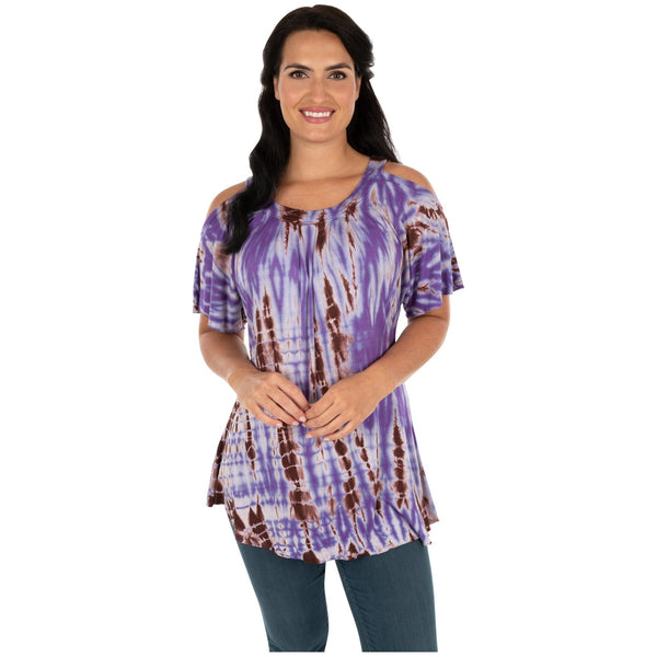 Blurred Lines Cold Shoulder Tunic