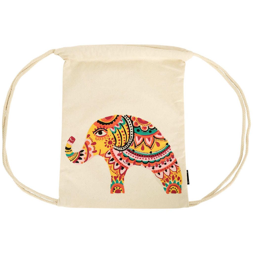 Bohemian Elephant Drawstring Backpack