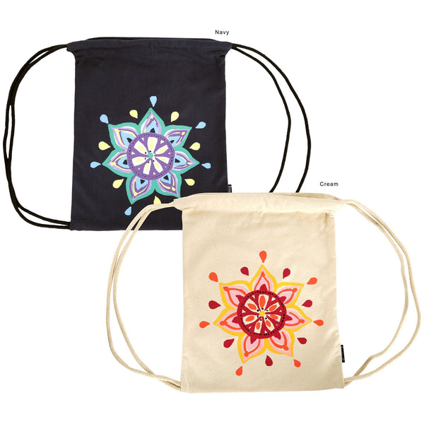 Bohemian Medallion Drawstring Backpack
