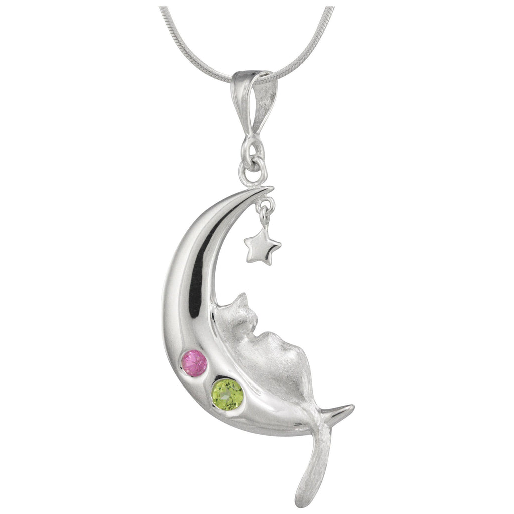 Bolivian Sterling Dreaming Cat Necklace