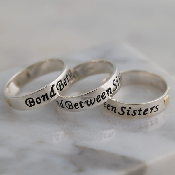 Bond Between Sisters Sterling Ring