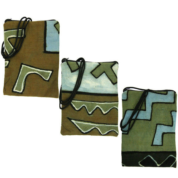 "Boubacar Mudcloth ""Bogolan"" Passport Bag"