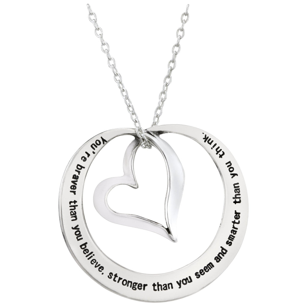 Braver Stronger Smarter Mobius Sterling Necklace