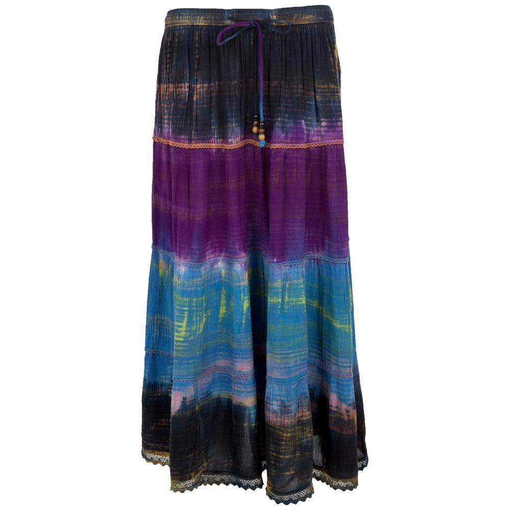 Brushed Sky Maxi Skirt