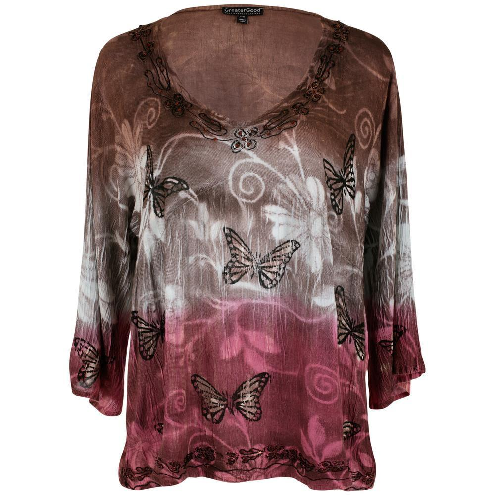 Butterflies At Play Long Sleeve Tunic