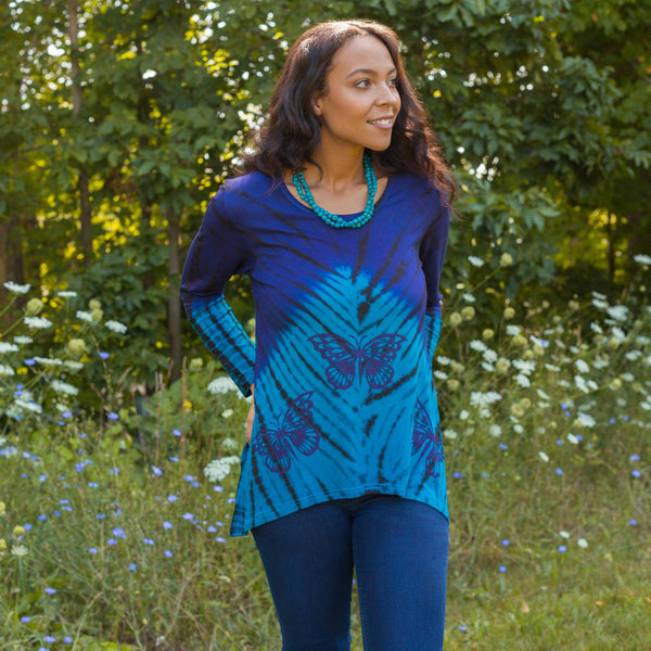 Butterfly Blues Tunic