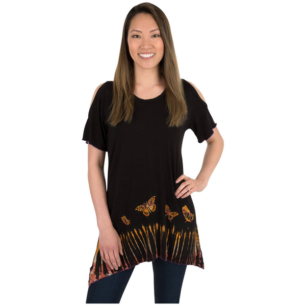 Butterfly Dawn Cold Shoulder Top