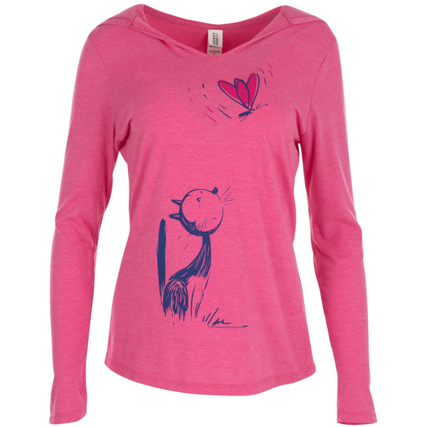Butterfly Gazing Hooded Tee