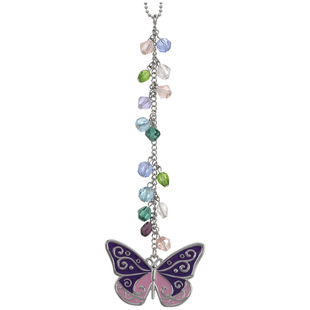Butterfly Glass Bead Car Charm