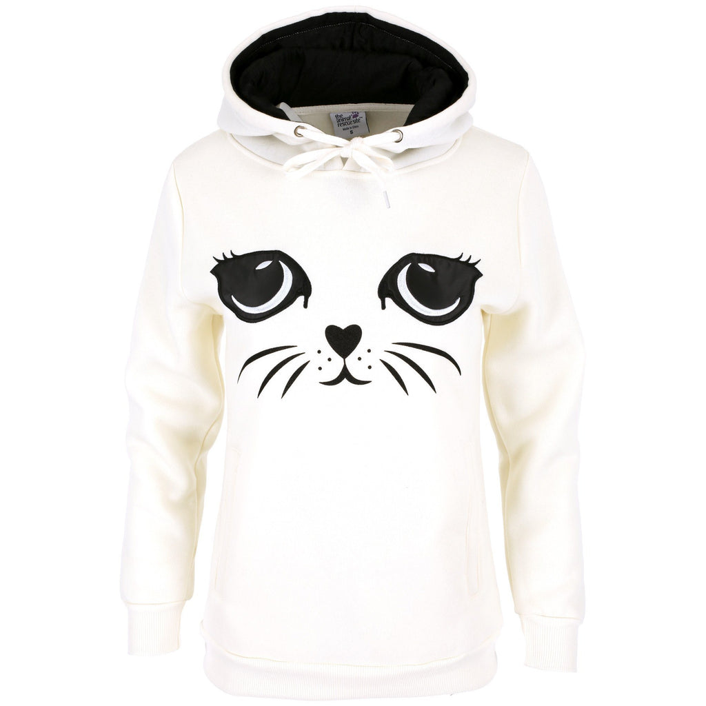 Cat Face Hooded Sweatshirt