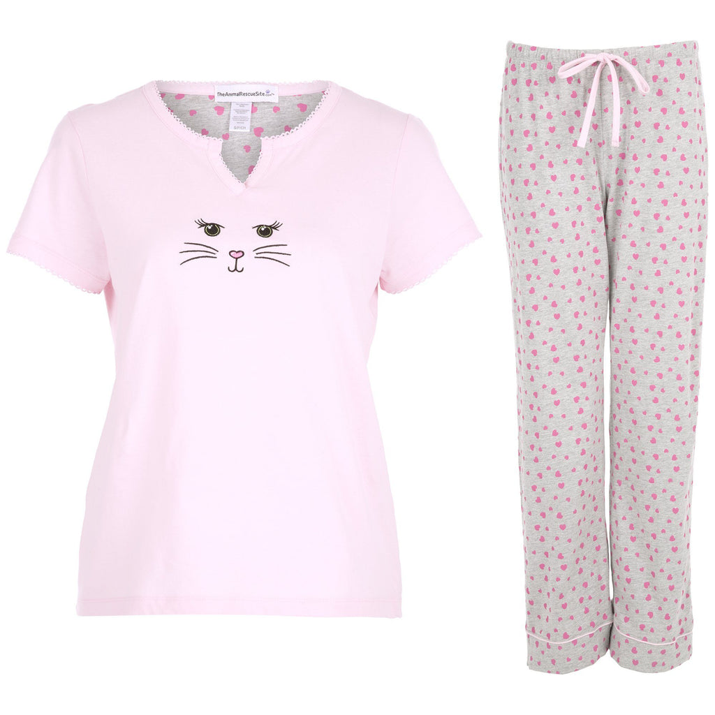 Cat Face Pajama Set