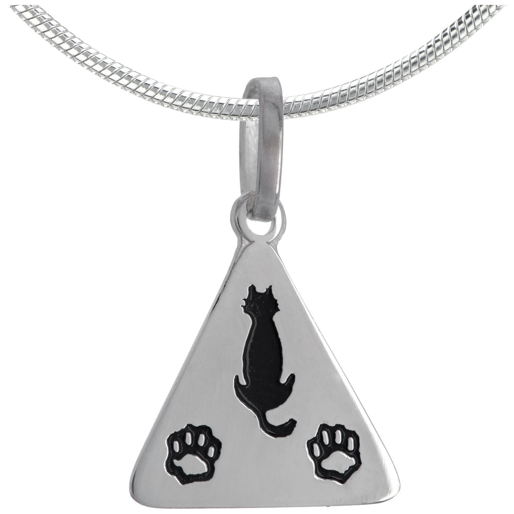 Cat & Paws Sterling Necklace