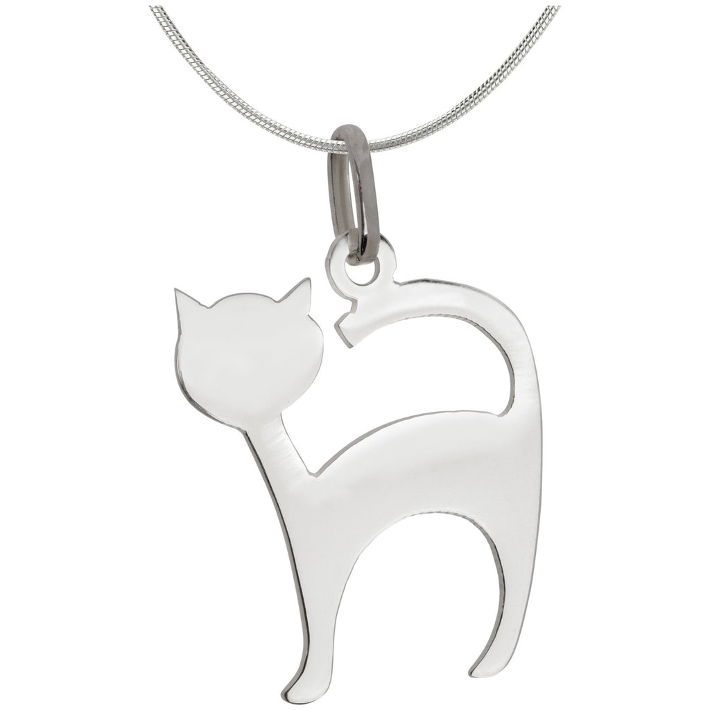 Cat Sterling Silhouette Necklace
