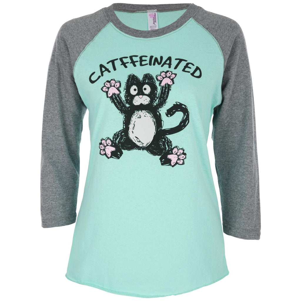 Catffeinated Baseball Tee