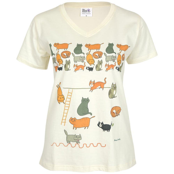 Cats Galore V-neck T-Shirt