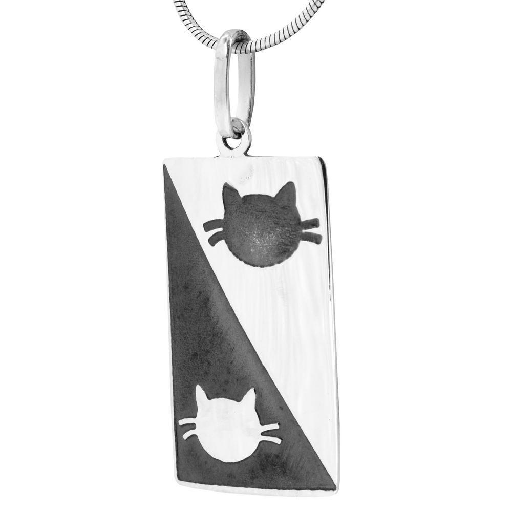 Cats In My Life Sterling Necklace