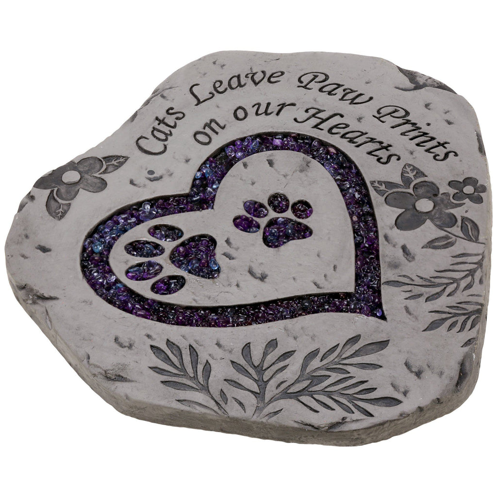 Cats Leave Paw Prints Garden Stepping Stone