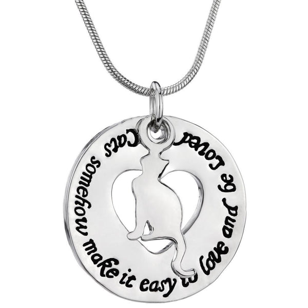 Cats Make It Easy To Love Necklace