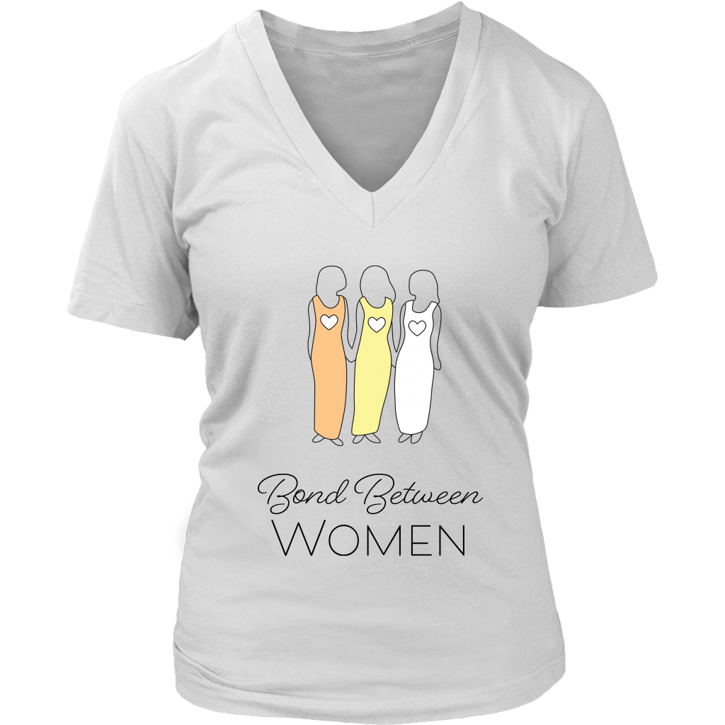 T-shirt - Bond Between Women V-Neck