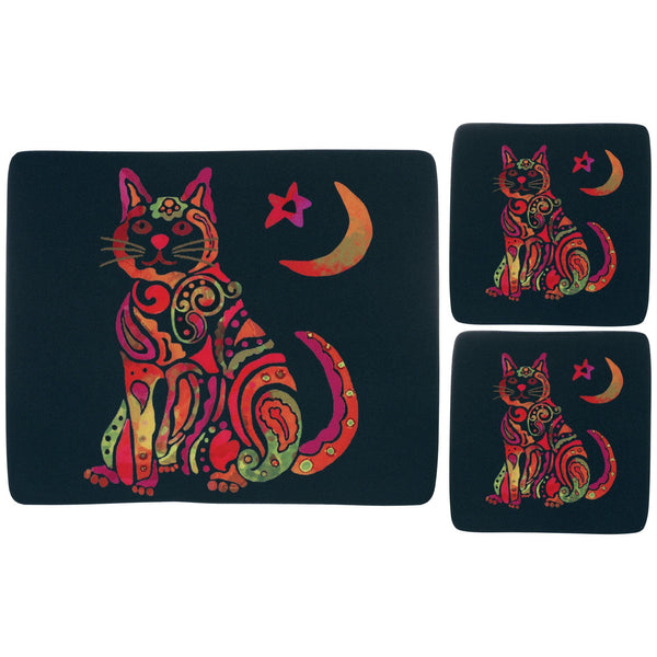 Celestial Cat Mousepad & Coaster Set