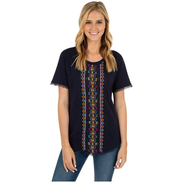 Center Lane Beaded Top