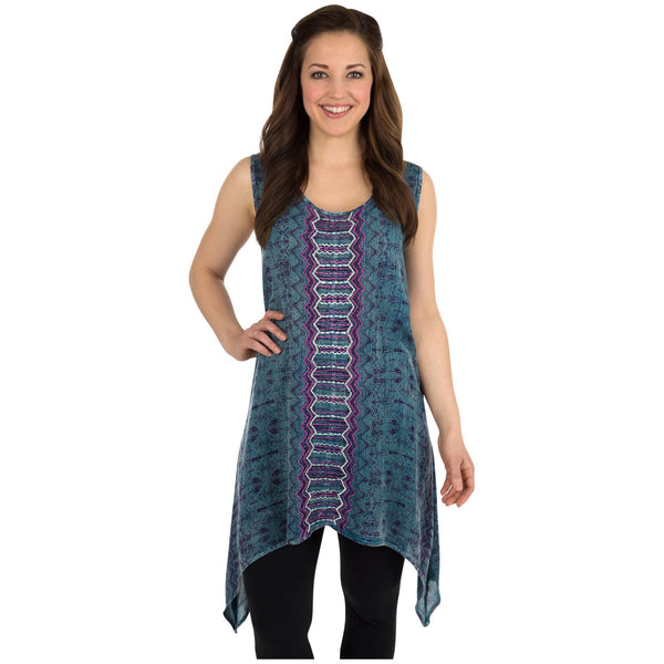 Center Lane Embroidered Sleeveless Tunic