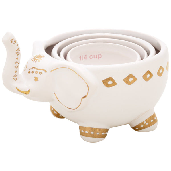 Ceramic Elephant Stacking Measuring Cup Set