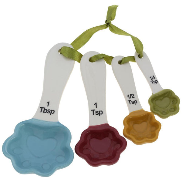 Ceramic Paws Measuring Spoon Set