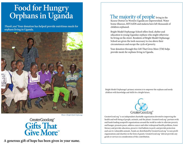 Food For Hungry Orphans In Uganda Greatergood