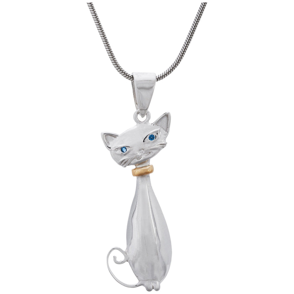 Charming Cat Sterling Necklace