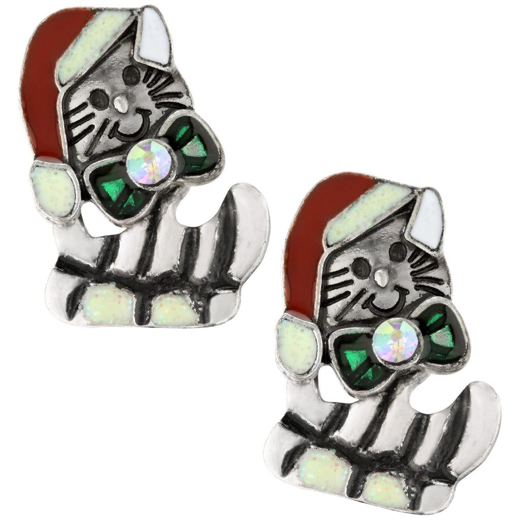 Christmas Kitty Holiday Earrings