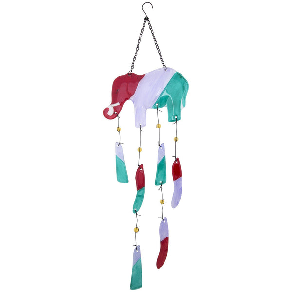 Colorful Elephant Glass Wind Chime