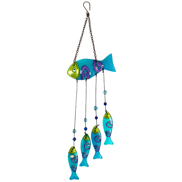 Colorful Fish Glass Wind Chime