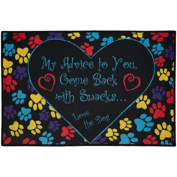 Come Back With Snacks Door Mat